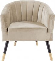 Leitmotiv fauteuil Royal 70 x 71 x 80 cm fluweel/hout beige