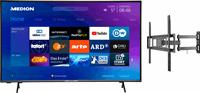 Medion BundelDEAL ! LIFE® X14351 43 inch Ultra HD-TV & GOOBAY Basic FULLMOTION (L) Muurbevestiging Tot 70 inch