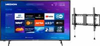 Medion BundelDEAL ! LIFE® X14351 43 inch Ultra HD-TV & GOOBAY Pro TILT (L) Muurbevestiging (tot 70 Inch)