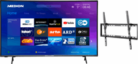 Medion BundelDEAL ! LIFE® X14351 43 inch Ultra HD-TV & GOOBAY Basic TILT (L) Muurbevestiging (tot 70 Inch)