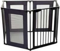 Dream baby Dream baby ® Brooklyn 2-in-1 Converta 6 Panels Playpen/Extra Brede Barrier, Grijs/Zwart
