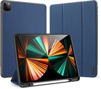 Dux Ducis Domo Apple iPad Pro 12.9 2021 Hoes Tri-Fold Book Case Blauw