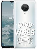 Just in Case Nokia G20 Hoesje Good Vibes wit
