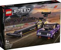 lego Speed Champions Mopar Dodge//SRT Top Fuel Dragster en 1970 Dodge Challenger T/A - 76904