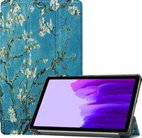 Case2go Samsung Galaxy Tab A7 Lite Hoes - Tri-Fold Book Case Samsung Galaxy Tab A7 Lite Hoesje - Witte Bloesem