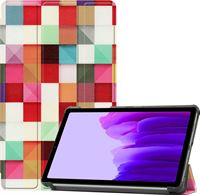 Case2go Samsung Galaxy Tab A7 Lite Hoes - Tri-Fold Book Case Samsung Galaxy Tab A7 Lite Hoesje - Blocks