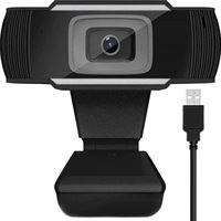 gsmschermkapot Full HD 1080p webcamera - pc camera - zwart / zilver