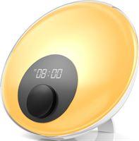 Gadgy Wake Up Light – Wekkerradio met 16 mln. kleuren LED licht – Nachtlamp - Leuk cadeau