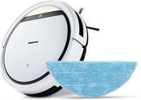 Medion Robotstofzuiger E32 SW, reiniging van stof, haar & pollen, stofzuigen & dweilen, programmeerfunctie, 120 min. looptijd & automatisch opladen