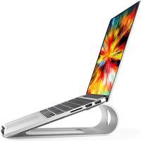 QUVIO Aluminium laptop standaard/Laptop verhoger/Laptophouder/Notebook standaard/Laptop steun/Laptopstandaard/Computerstandaard - Grijs