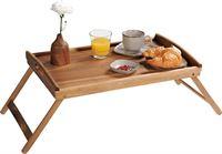 Decopatent FSC® Acacia houten inklapbare bedtafel voor op bed met dienblad - Houten Bedtafelje - Laptoptafel - Ontbijt Bed - Bank dienblad