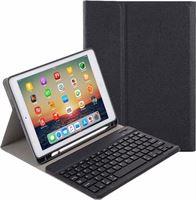 Case2go Apple iPad 10.2 inch Toetsenbord Hoes - 2020 - Bluetooth Toetsenbord Case met Stylus pen houder - Zwart