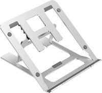 Case2go Opvouwbare laptop / macbook standaard - 11.6 tot 17.3 inch - Verstelbare hoogte - Aluminium - Zilver
