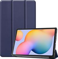 Case2go Samsung Galaxy Tab S6 Lite hoes - Tri-Fold Book Case - Donker Blauw