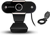 Jotechs Webcam HD - Webcam voor PC - Webcams - Camera Web Cam - Camera Laptop - USB Webcam - Webcam voor Computer - Microfoon - Werk & Thuis - Windows - Mac - Linux - Nieuw Model 2021