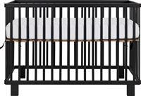 Puck Inklapbare Ledikant Zwart Mat 60 x 120 Cm