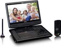 """Lenco DVP-1064BK - Draagbare 10"""" DVD-speler met USB, SD en DVB-T2 - Zwart"""