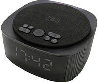 Ksix Wekker met draadloos opladen, 10 W, Bluetooth-luidspreker met alarm en FM-radio