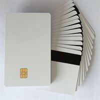 Kinggo 100 stks/partij 2 in1 FM4442 Chip met Hi-Co Magnetische Streep PVC Lege Kaart Printable