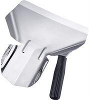 Westmark Friet-/popcornschep, voor rechtshandigen, 1 handvat, bladafmetingen: ca. 20 x 12 cm, lengte: 23 cm, RVS/kunststof, zilver/zwart, 91282270