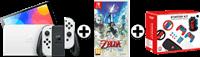 Nintendo SWITCH OLED WIT + ZELDA SS + SWITCH GAMING BUNDEL