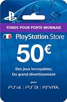 PS Plus live cards FR VG Carte Playstation Store - 50 € Ps4