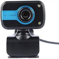 Nowakk Praktische camera HD-webcams USB-camera's video-opname webcamera draagbare drive webcams voor desktop-pc - blauw