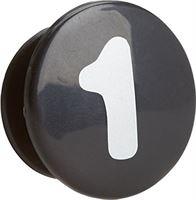 Yepp Unisex Adult ABC voorwielmand, zwart - zwart, pak van 10