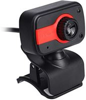 Nowakk Praktische camera HD-webcams USB-camera's video-opname webcamera draagbare drive webcams voor desktop-pc - grijs rood