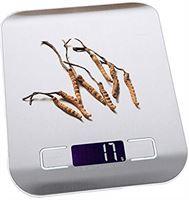 inlijianzhugon Digitale schaal 10kg 1G roestvrij staal elektronische balans keuken voedsel dieet kookmaatregel tool (Color : Silver)