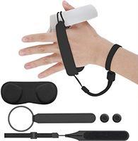 Elygo Handpalm Riem voor Oculus Quest 2 Touch-Controllers Grip Polsbanden Verstelbare Bevestigingsriem met Nylon Magic Tape 2 * Thumb Stick-Doppen Lensafdekking VR-Accessoires