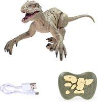 Hapybas RC Velociraptor Dinosaurus met Afstandsbediening - Speelgoed Bestuurbaar Robot