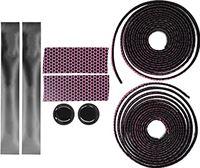 WNSC Stuuromhulsels, comfortabele lichtgewicht racefietshandvattapes Gemakkelijk vast te pakken met stuurpluggen voor mountainbikes voor racefietsen(Zwart roze)