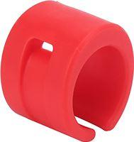 QITERSTAR Achtervorkbeschermer voor mountainbike, ringfietsframe Rubberen kettingbeschermer Achtervorkbeschermer Achtervorkbeschermer voor fiets voor crosscountryfietsen voor mountainbikes(rood)