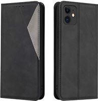 """Jeewi Hoesje voor iPhone 11 (6.1"""") Wallet Book Case, Magneet Flip Wallet met Kaarthouders slots Robuuste schokbestendige Bookcase voor Apple iPhone 11 2019 - JEYTB030026 Zwart"""