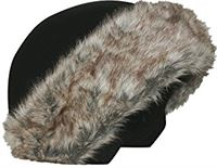 Cool Casc Exclusive-Brown Fur Dames Helm-Protector, Brown, One Size