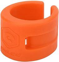 Shanrya Achtervorkbeschermer voor mountainbikes, beschermer voor achtervorken voor fietsen Rubberen kettingbeschermer voor crosscountryfietsen voor mountainbikes(Oranje)