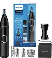 Philips Neustrimmer 5000 Serie - Trim neus-, oor- en wenkbrauwhaar - Volledig afspoelbaar - Huidbeschermer - Roestvrijstalen messen - Geschikt voor onder de douche - Precisiekam - Reisetui - NT5650/16