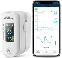 Wellue iCare Saturatiemeter met Bluetooth & VIHEALTH-app - Hartslagmeter - Oximeter - Zuurstofmeter - Saturatiemeters - Zuurstofmeter vinger - Pulse oximeter