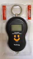 WH Weegschaal - portable -electronic-batterijen inbegrepen-kleur zwart