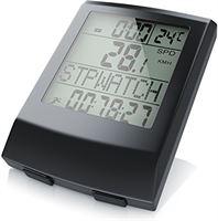 CSL-Computer CSL - Fietscomputer draadloos - Fietscomputer - Snelheidsmeter - 13 functies - Temperatuurweergave in graden Celsius - Reed Sensor - incl. bevestigingsmateriaal - achtergrondverlichting