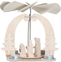 Pebaro Houten bouwpakket 3D puzzel kerstpiramide