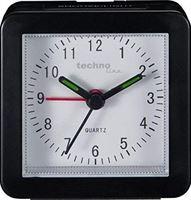 technoline Quartz wekker model SC, zwart, analoog, klassiek