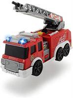 dickie Toys 203302002 brandweerauto met waterspuitfunctie, uittrekbare ladder, rood