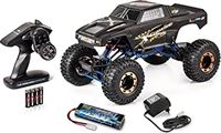 Carson 500404214 1:10 X-Crawlee Pro 2.0 100% RTR, afstandsbediening crawler, RC auto, incl. batterijen en afstandsbediening, geschikt voor offroad, robuust voertuig, mat zwart, mat zwart