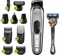 Braun MGK7220 10-in-1 Baardtrimmer Voor Mannen, Bodygroomer En Haartrimmer, Zilvergrijs