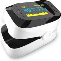 Datoza Datoza® Saturatiemeter met Hartslagmeter - Zuurstofmeter vinger - Pulse Oximeter met Spo2 Sensor - Pulsoxymeter met Perfusie-index