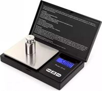 LOUZIR Precisie Weegschaal Keuken 0,01 tot 500 Gram - Nauwkeurig Digitale Mini Pocket Keukenweegschaal