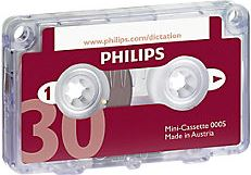 Philips Mini cassette 30 minuten Rood 10